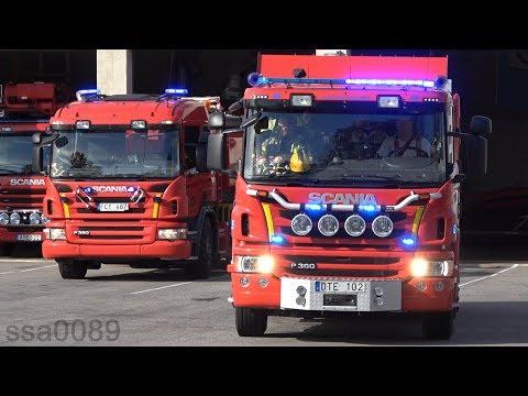 Utryckning Nynäshamn Södertörns brandförsvar [SE   9.2018]