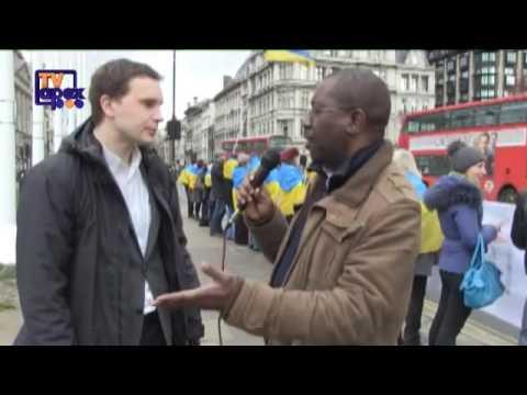 Ukraine's protest against Russian's invassion