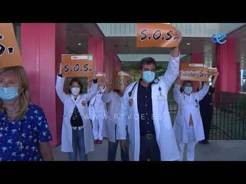 Concentración en el Hospital para protestar por las condiciones sanitarias