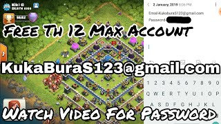 Free th 12 Account Email and password Free Clash Of Clans Account