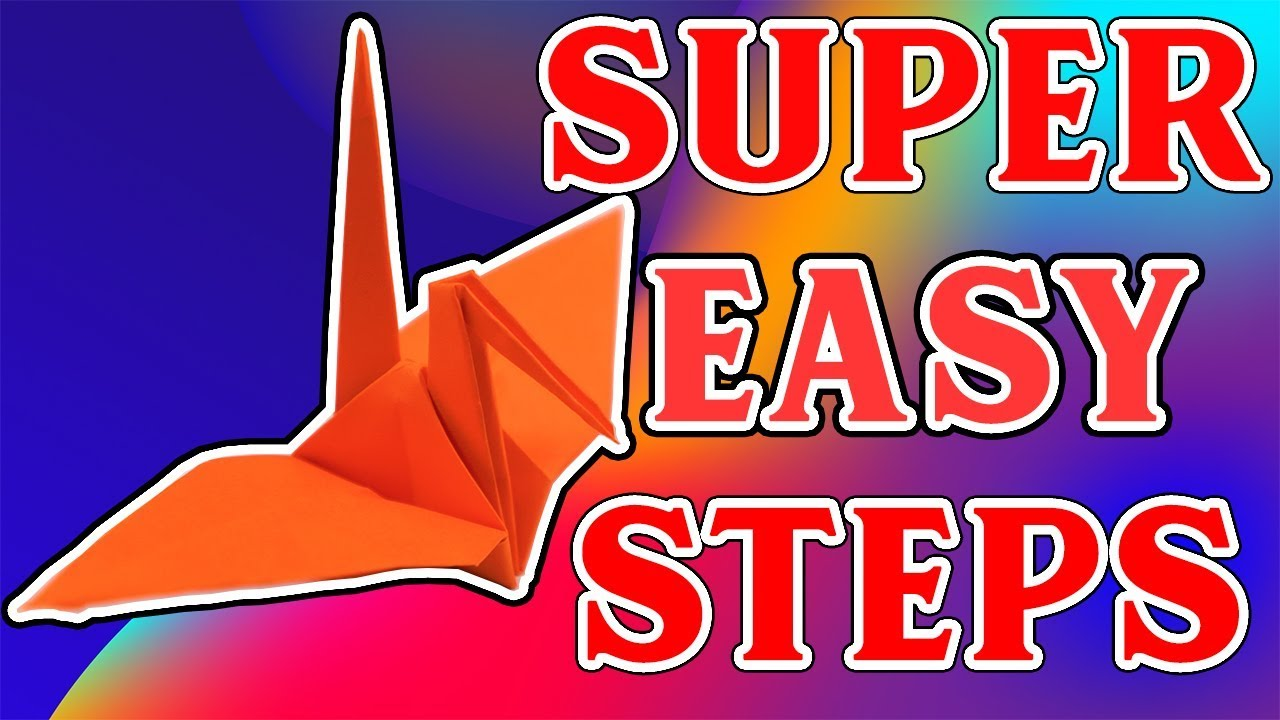 How To Make Origami Crane Instructions And Diagrams Easy Steps Youtube Pics Photos Swan