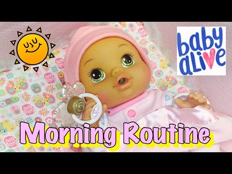 Baby Alive Abigail's morning routine and isn't done peeing at diaper change