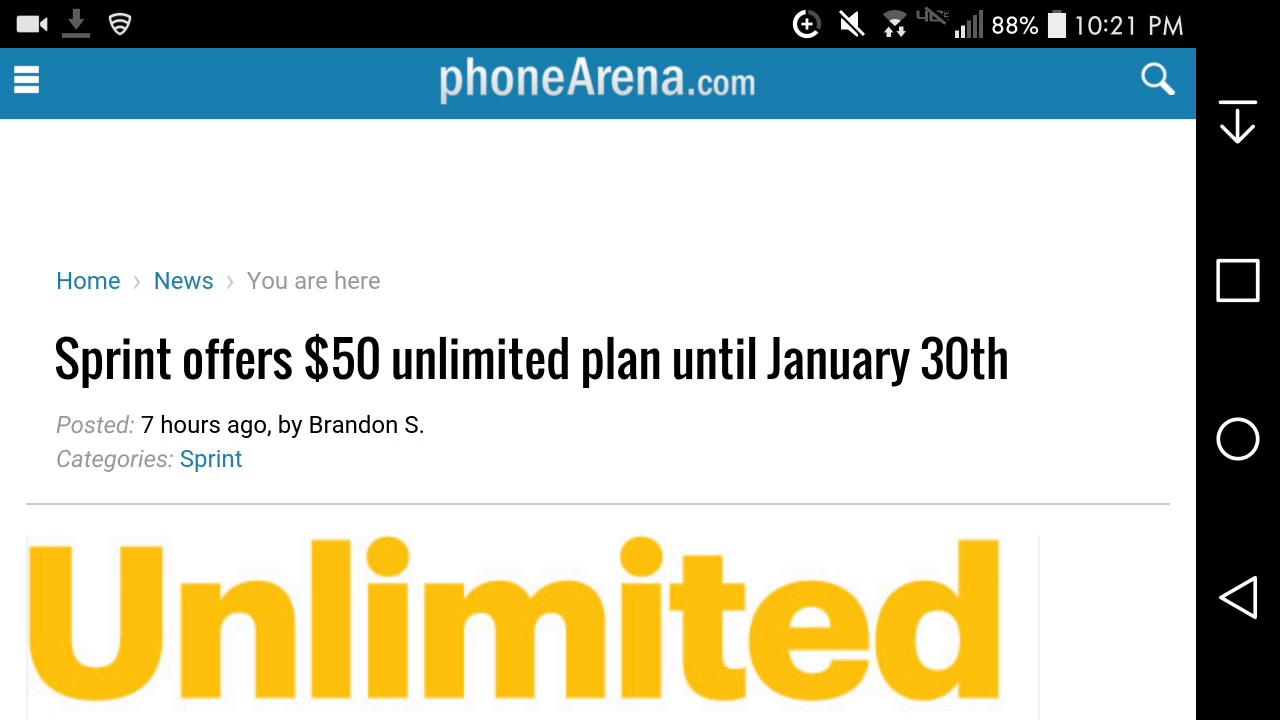 According to Sprint's website, the promotional pricing is for new accounts, but the unlimited plan is available to new and current customers. On Clark's Facebook page, some Sprint customers have said that's no way to keep existing customers happy.