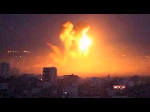 Gaza City airstrike panic in pictures