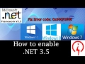 How to Enable .NET 3.5 on Windows OS