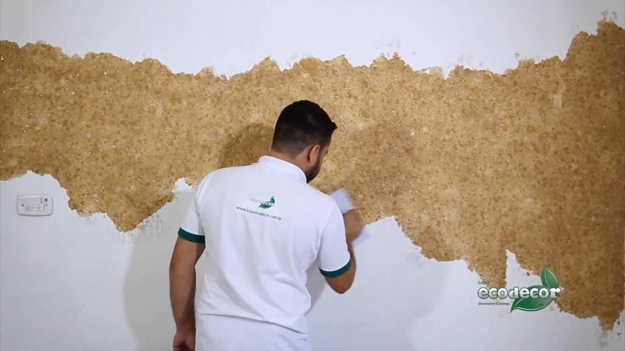 Ecopaper papel de parede liquido youtube - Papel adhesivo para paredes ...