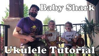 Baby Shark - Super Easy Beginner Two Chord Ukulele Lullaby Tutorial