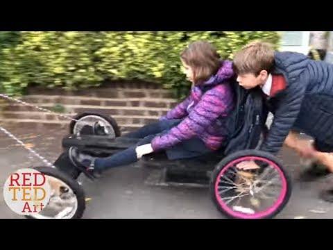Go Kart With Pallet Wood Bike Wheels