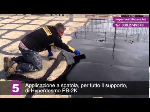 Impermeabilizzare un terrazzo con Hyperdesmo PB2K - YouTube