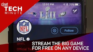 Stream the Super Bowl for free on any device (Tech Minute)