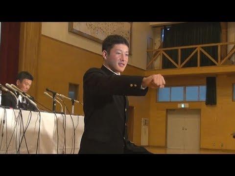 吉田投手がプロ希望表明 「どのチームでも努力」