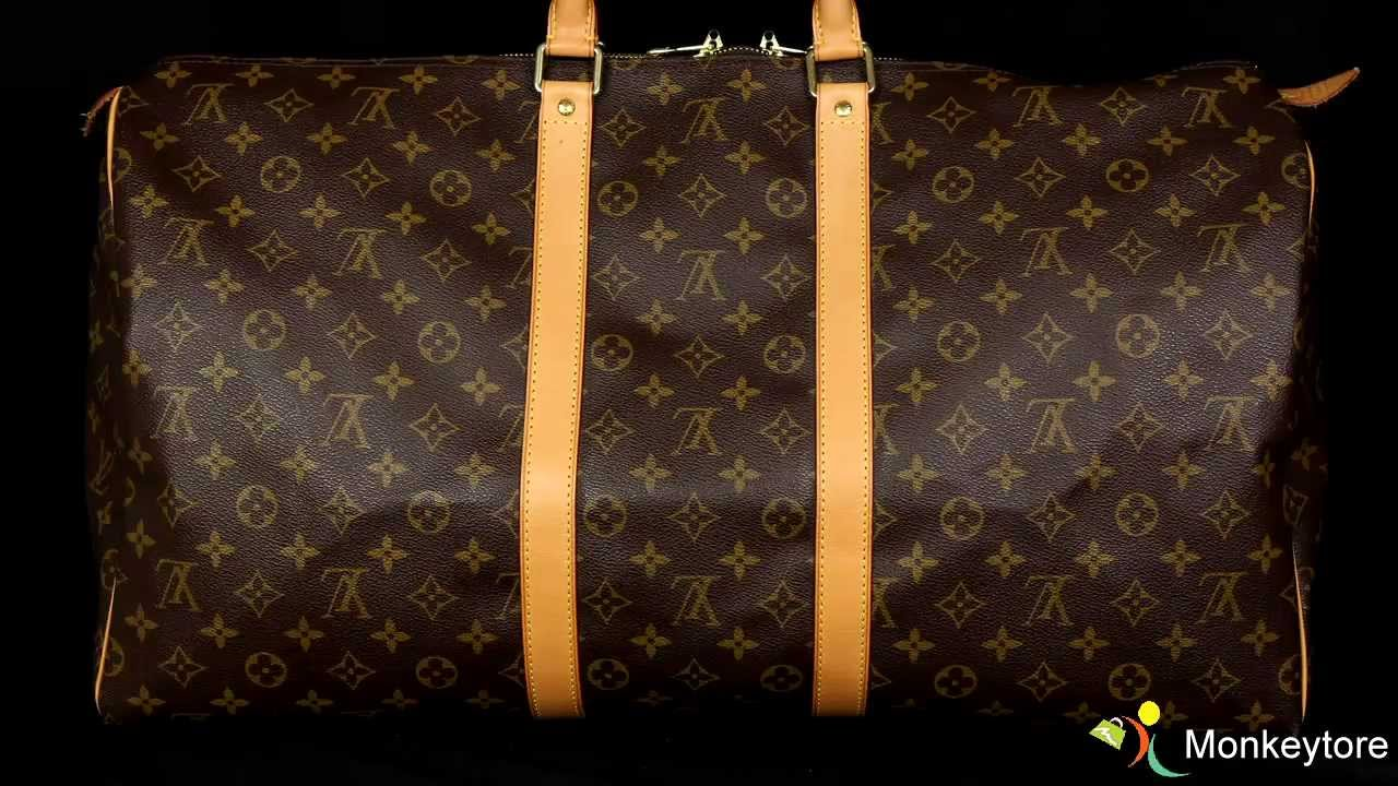 a0a721fc6664 Authentic Louis Vuitton Monogram Keepall 55 - YouTube