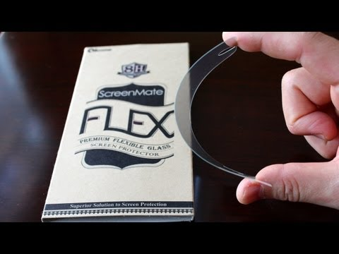 iloome ScreenMate FLEX: Flexible Glass Screen Protector for iPhone 5S, HTC One, Galaxy S4
