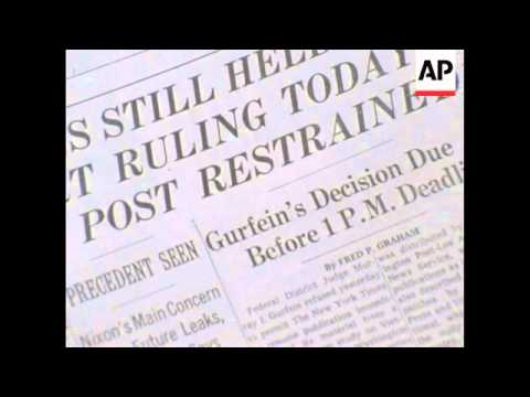 New York Times Publishes The Pentagon Papers - 1971
