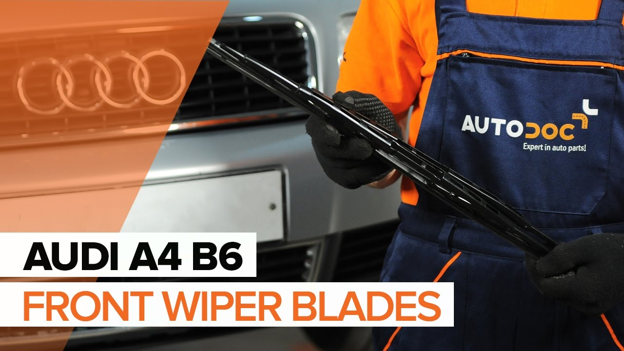 how to replace front wiper blades on audi a4 b6 tutorial autodoc rh youtube com Audi A4 Manual Transmission Audi A4 Service Manual