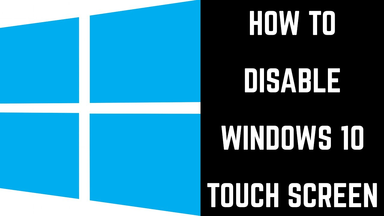 disable touch screen windows 10 shortcut