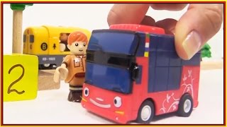 TAYO BRIO ⭐︎ Ride TAYO the Little Bus & BRIO Toys Trains! ⭐︎ Railway Train Kids Cartoons 타요 도로놀이 장난감