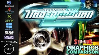 Need for Speed Underground 2 | Side by Side | GC PS2 XBOX PC Mobile GBA NDS PSP