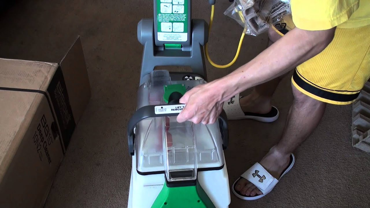 bissell biggreen commercial deep cleaning 2 motor extracter machine unboxing youtube - Green Machine Carpet Cleaner