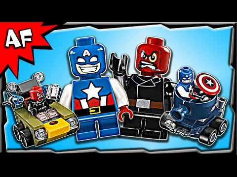 Lego Marvel CAPTAIN AMERICA vs RED SKULL Mighty Micros 76065 Stop Motion Build Review