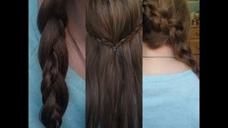 3 quick and easy braided hairstyles