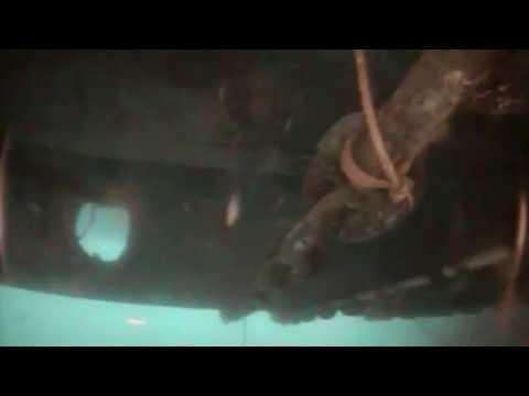 VideoRay ROV Footage - Under Ship Wreck - Costa Concordia Wreck Removal