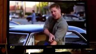 "Supernatural.  Dean singing ""Eye of the Tiger"". LOVE IT!!!"