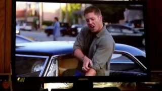 "Supernatural.  Dean singing ""Eye of the Tiger"". LOVE IT!!!"