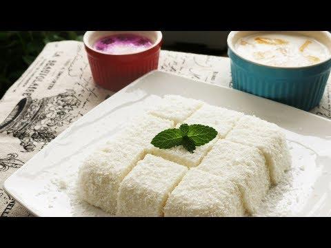 EASY DESSERT RECIPES - Coconut Jelly / Coconut Milk Pudding [椰子冻]