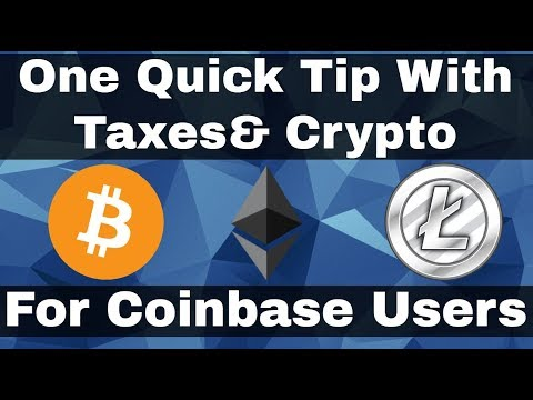 One Quick Tip With Taxes & Crypto For Coinbase Users