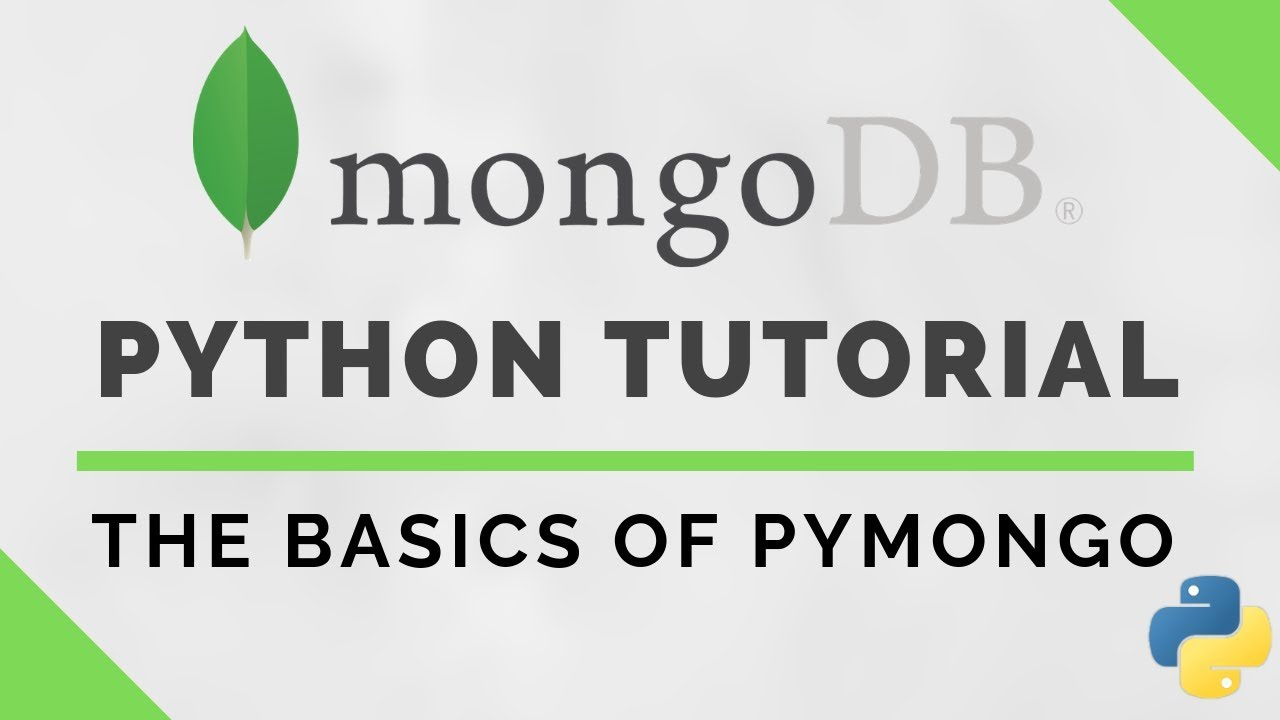 Python MongoDB Tutorial using PyMongo
