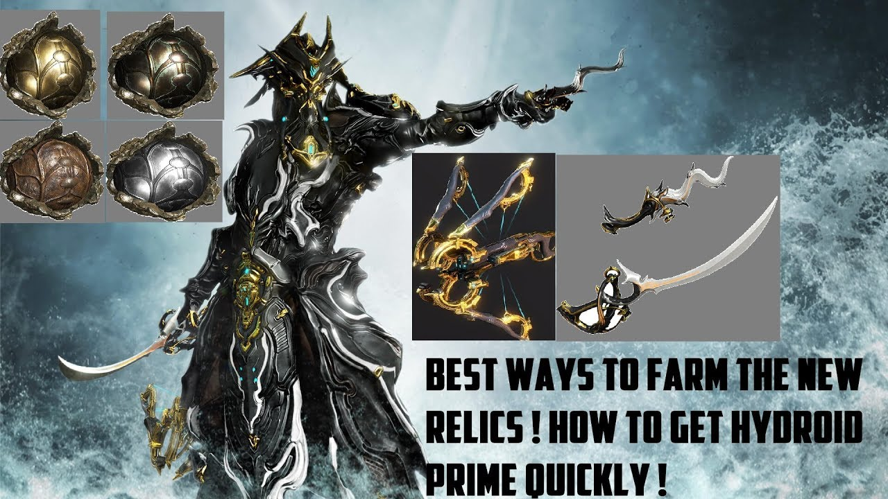 Warframe - Best Places To Farm Hydroid Prime Relics ! How To Farm