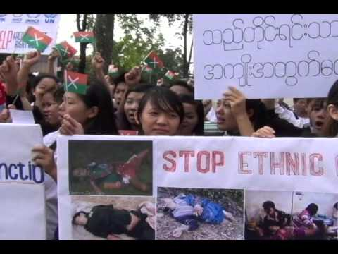 Demostration Held of Myanmar Embassy in Malaysia