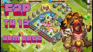 (Castle clash) How to make a HBM Base  Town Hall 10-15 HBM Base