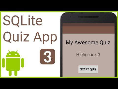 Multiple Choice Quiz App With SQLite Integration Part 3 - SQLITE OPEN HELPER CLASS -Android Tutorial