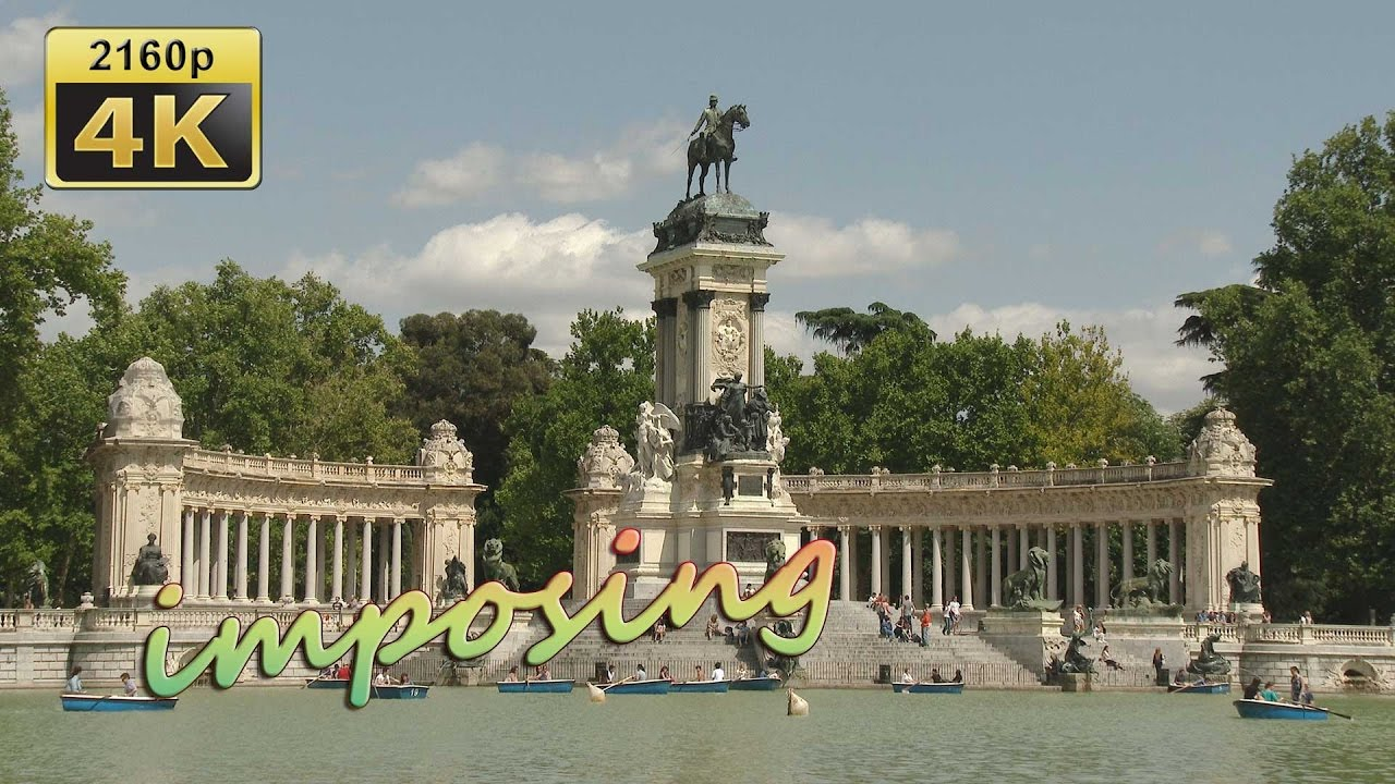Parque del retiro madrid spain 4k travel channel youtube for Parques de madrid espana