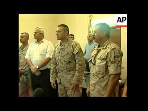 Coalition handover of Karbala troops to Bulgaria