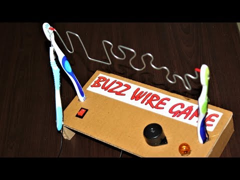 How to make a buzz wire game circuit