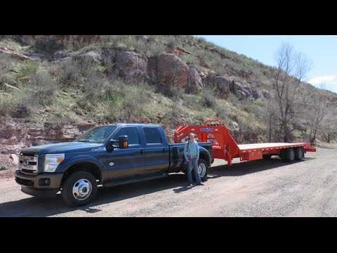 Ford 2015 F350 King Ranch review, comparing to Ram 3500, gooseneck ball comparison - YouTube