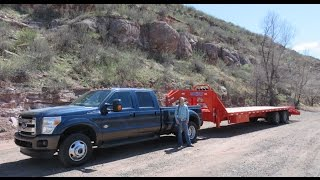Ford 2015 F350 King Ranch review, comparing to Ram 3500, gooseneck ball comparison