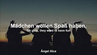 Cyndi Lauper - Girls Just Want To Have Fun - Deutsche Übersetzung/German Translation