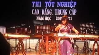 Thanh Hồng độc tấu đàn tranh - mơ về bến ngự - nhạc huế