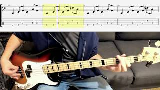 The Smithereens - Blood and Roses - Bass Cover - Scrolling Tabs Bass Lesson