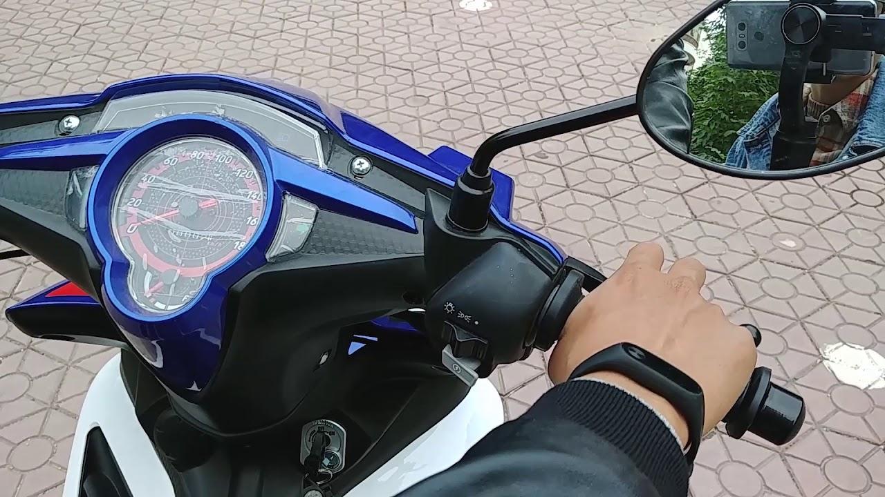 Exciter 50 Xanh Trắng GP kiểu dáng Exciter 135cc ► Đánh giá và lái thử giá 16.000.000đ