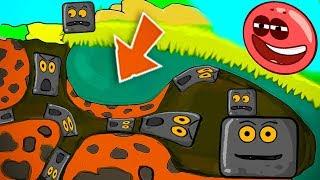СУПЕР - МУЛЬТИК ПРО КРАСНОГО ШАРИКА И ЧЁРНОГО КВАДРАТА - мультфильм про шар для детей Red ball 4