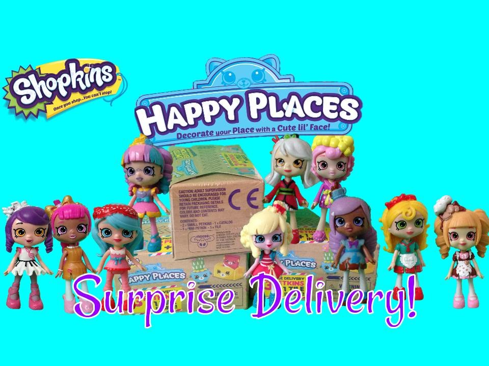 Download Opening 3 Shopkins Happy Places Surprise Delivery Blind Boxes!