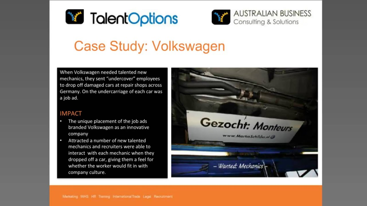 hr practices of volkswagen Advancement of women, family-friendly hr policies for volkswagen, family-friendly human resources policies are a key attribute of an attractive employer volkswagen intends to increase the proportion of women in the company in a sustainable way.