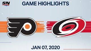 NHL Highlights   Flyers vs Hurricanes – Jan. 7, 2020