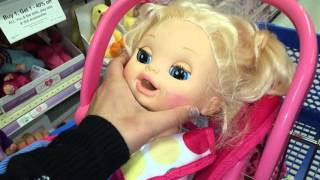 Baby Alive Goes on Shopping Spree at TOYS R US, then Pumps Gasoline!?