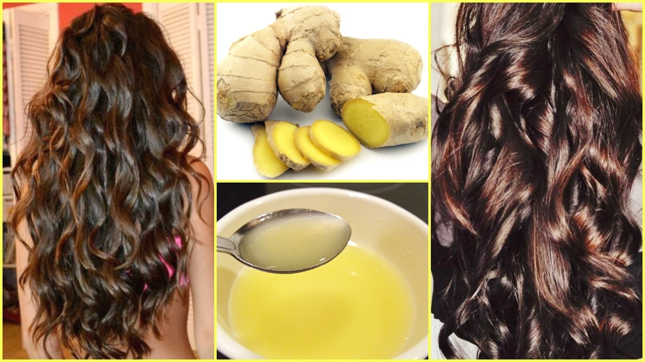 Homemade Ginger Hair Oil For Extreme Hair Growth, Hair Loss │DIY GINGER  HAIR MASK SILKY, SHINY HAIR